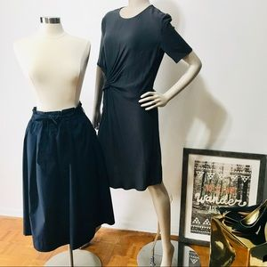 H&M Charcoal Dress and Navy Blue Skirt, Size 6